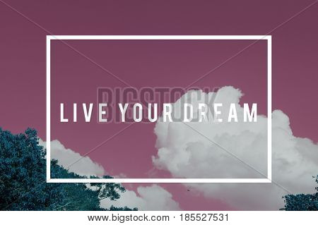 Sky nature photo with motivate quotes