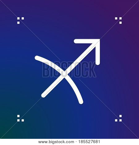 Sagittarius Zodiac Vector Sign, Horoscope Symbol, Astrology Line Icon, Linear Logo Illustration