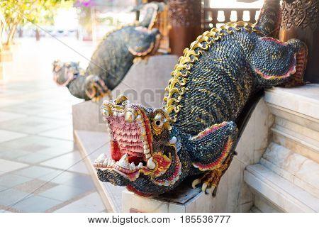 Demon Sculpture In Buddhist Temple