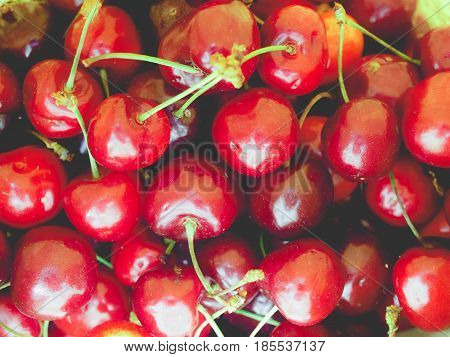 Cherry Background, Faded Vintage Look