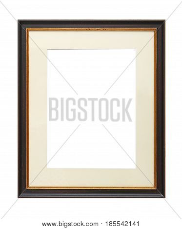 Vintage Wooden Picture Frame With Cardboard Mat