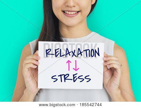 Lifestyle Antonyms Relaxation Stress Illustration