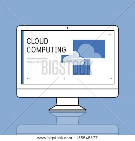 Cloud Computing Sync Icon Sign