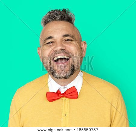 Caucasian Man Smile Happy Positive