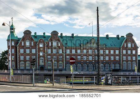 Copenhagen, Denmark - May 6, 2017: Historical building in Copenhagen, Denmark