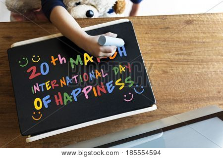 International Day Of Happiness Concept