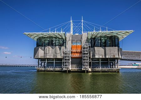 Lisbon, Portugal. Oceanarium in the Park of Nations