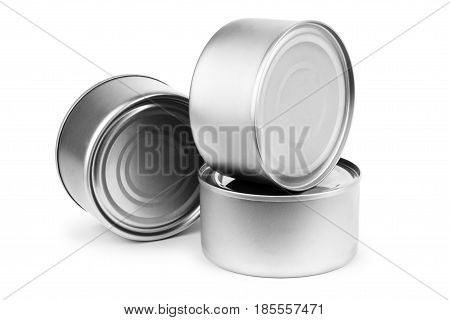 White Blank Tincan Metal Tin Can Canned Food.