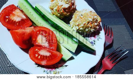 Tasty and useful snack-lunch time for those who are for healthy and healthy food