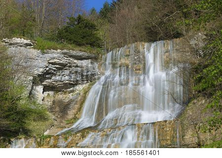 L'Eventail Waterfall Herisson Waterfalls Cascades du Herisson Menetrux-en-Joux Jura Franche-Comté France