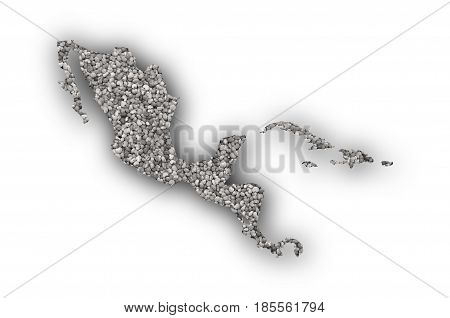 Map Of Middle America On Poppy Seeds