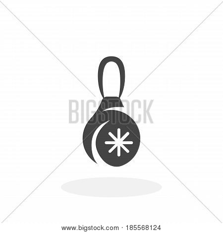 Christmas toy icon isolated on white background. Christmas toy vector logo. Flat design style. Modern vector pictogram for web graphics - stock vector
