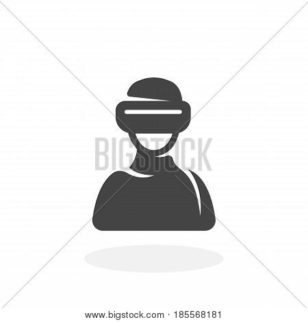 Virtual reality icon isolated on white background. Virtual reality vector logo. Flat design style. Modern vector pictogram for web graphics - stock vector