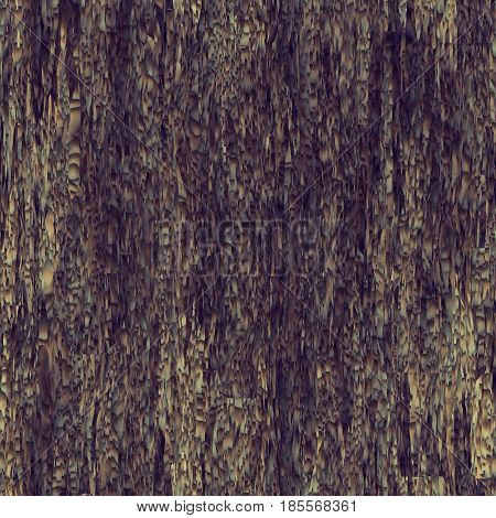 Seamless texture hanging down worn-out ripped rags brown cloth or paper. Pattern of rustic fabric material