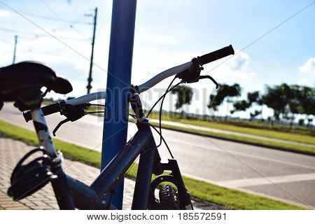 Andar de bicicleta é uma das coisas que gosto de fazer