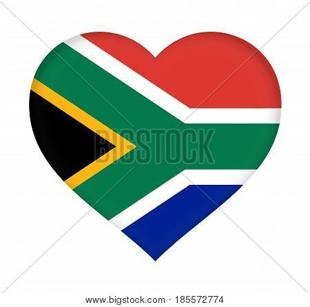 Flag Of  South Africa Heart