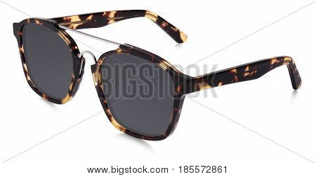 sun glasses spotted brown isolated on white background