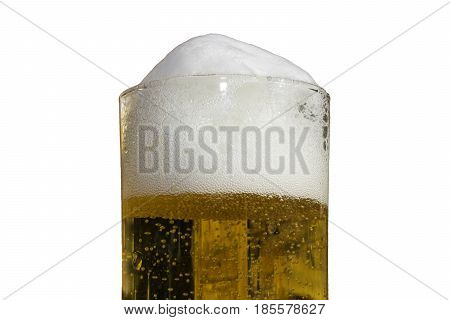 cold beer in frosty glas biergarten fresh