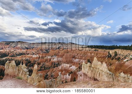 Dramatic Storm Clouds Over Bryce Canyon National Park