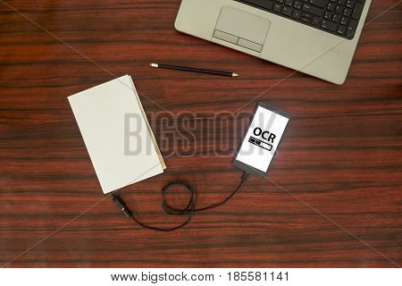 Optical Character Recognition Flat Lay