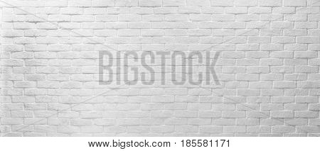 Abstract white texture brick on the wall white brick pattern for mapping object 3D Simple clean white background texture.