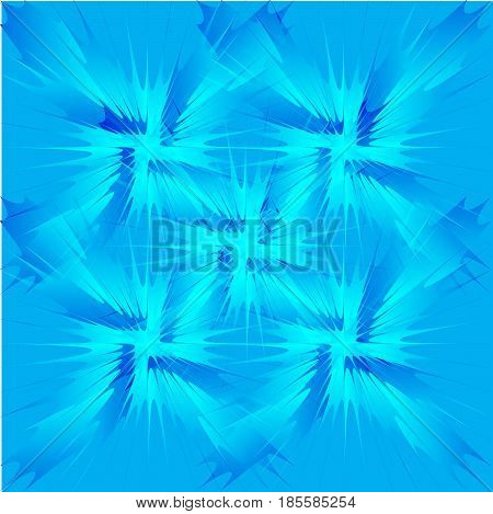 The background pattern is in blue tones. Vector illustration