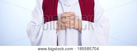 Jesus In White Robe