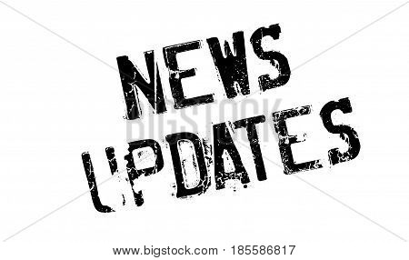 News Updates rubber stamp. Grunge design with dust scratches. Effects can be easily removed for a clean, crisp look. Color is easily changed.