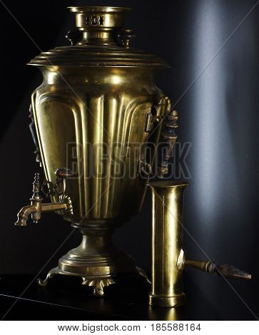Russian Traditional Samovar, Device For Heating And Boiling Water
