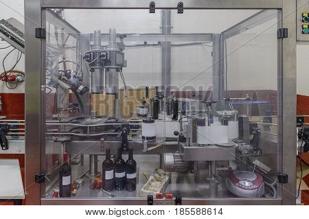 image of industrial equipment at the winery