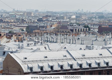 View Of St. Petersburg From The Roof Of The House