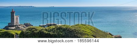 Petit Minou Lighthouse. Plougonvelin, Brittany, France