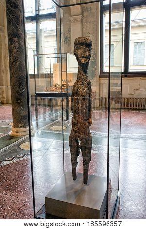 BERLIN GERMANY - APRIL 7: Celtic figure in neues museum on April 7 2017 in Berlin