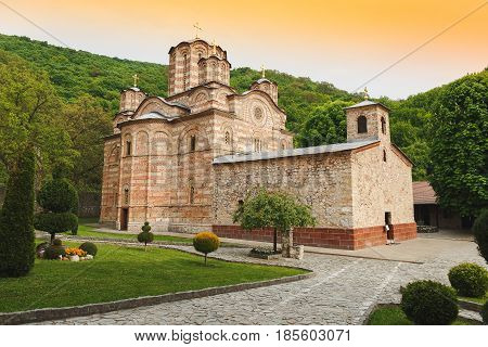 Serbian Orthodox Monastery Ravanica and church, built in 14th century, Serbia