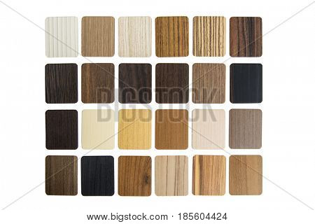 Samples of Laminated composite material for covering