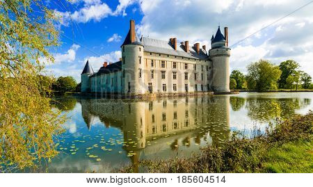 Romantic medieval castles of Loire valley - beautiful Le Plessis-Bourre