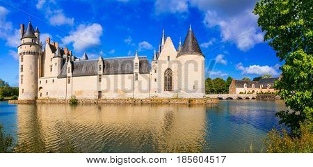 Majestic medieval castles in Loire valley - Le Plessis Bourre. France