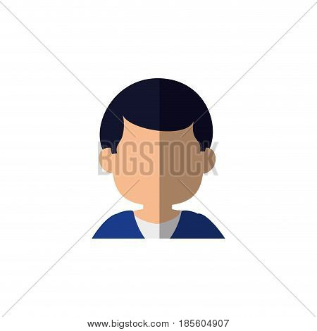 man avatar icon over white background. colorful design. vector illustraiton