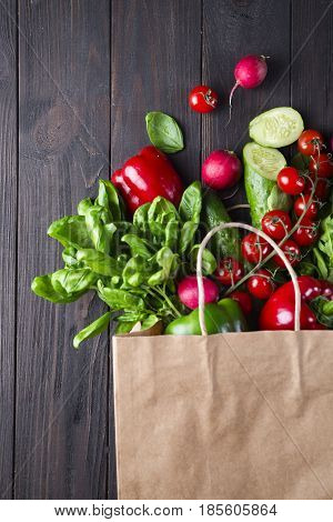 Paper Bag Of Different Health Food