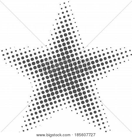 Grey abstract background with half tone effects. Dots texture vector illustration.