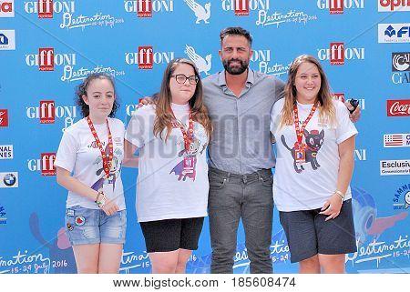 Giffoni Valle Piana Sa Italy - July 23 2016 : Simone Montedoro at Giffoni Film Festival 2016 - on July 23 2016 in Giffoni Valle Piana Italy