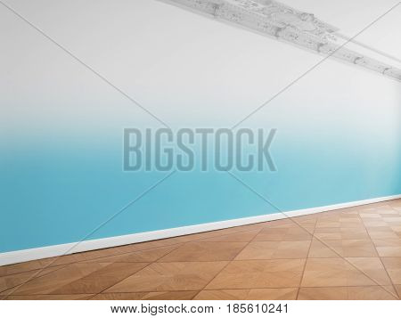 Wall Background In Empty Room With Copy Space