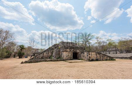 Ek Balam, the Mayan Archaeological Site. Maya Ruins, Yucatan Peninsula, Mexico