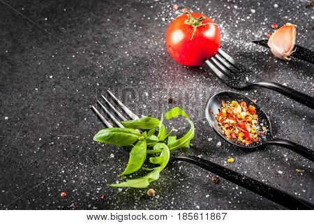 Cooking Background With Cutlery Set