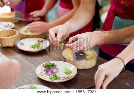Preparing Traditional Thai Food