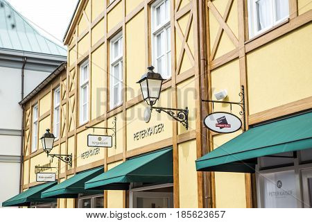Roermond, Netherlands 07.05.2017 - Logo of Peter Kaiser Store in the Mc Arthur Glen Designer Outlet shopping area