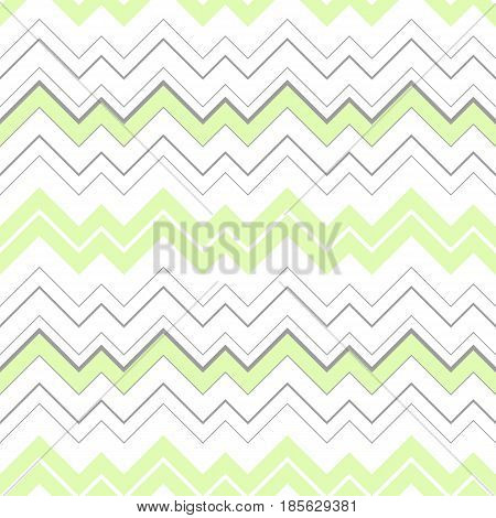 Vector abstract seamless triangular geometric pattern with green and grey colored stripes on the white background