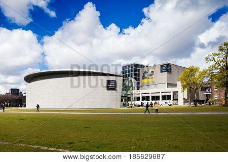 Amsterdam, Netherlands - April, 2017: Building of Vincent Van Gogh Museum in Amsterdam, Netherlands