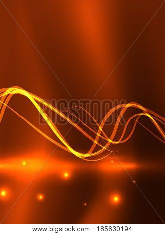 Glowing shiny wave background, energy concept illustration