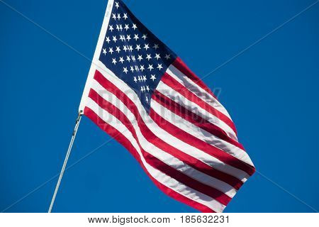 United States of America flag star spangled banner stars and stripes blue sky
